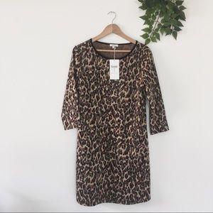 NWT Tyler Boe Leopard Print Shift Dress